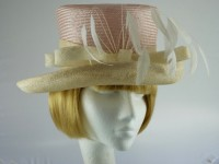 Marks and Spencer Ascot hat Pink and Cream
