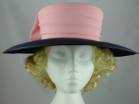 Simon Ellis Pink & Navy Wedding Hat