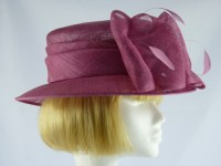 Ascot hat in Plum
