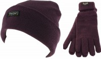 Thinsulate Ladies Beanie Ski Hat with Matching Gloves