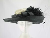 Presen of Barcelona Black and Cream Ascot Hat