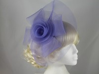 Purple Large Organza Fascinator