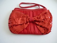 bag with bow in red