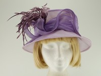 Roman Originals Lilac Collapsible Wedding Hat