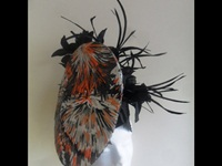 Suzie Mahony Designs Grey and Orange Headpiece