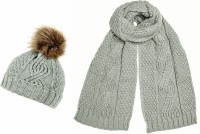 Boardman Darby Ladies Cable Knit Beanie with Matching Scarf