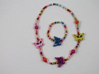 Small Butterflies Necklace and Bracelet Set