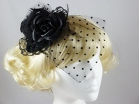 Top Hat with Veil Fascinator