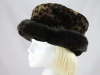 Victoria Ann Animal Print Faux Fur Hat