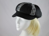 Victoria Ann Black Patterned Cap