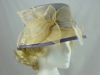 Walter Wright Cream and Blue Wedding Hat