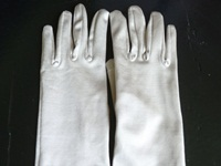 Wedding Glove Silver Grey