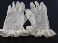 Wedding Gloves White Frill