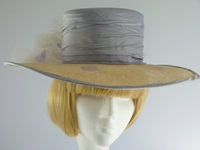 Wedding hat in Biscuit blue and lilac