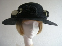 Nigel Rayment Mother of the bride hat Deep Navy