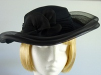 C&A Ascot hat Black flower
