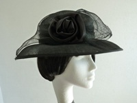 Wedding hat black
