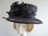 Victoria Ann Wedding hat Deepest Navy Loops