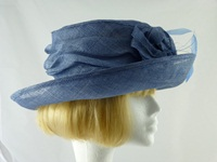 Madhatter Wedding hat Mid Blue Grey