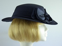 C&A Wedding hat Navy bows