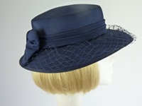 Wedding hat Navy with Bow