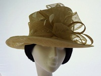 Failsworth Millinery Wedding hat Pale Lemon