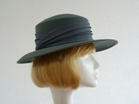 Jacques Vert Wedding hat Petrol blue green
