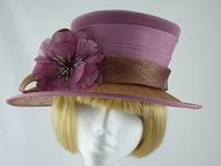 Jacques Vert Wedding hat Rose and Bronze
