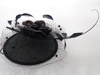 Wedding Headpiece Black Rose