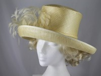 Whiteley Yellow Wedding Hat