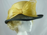 Windsmoor Black and Gold Wedding Hat