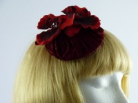 Hettie Jane Zena Deep Red Headpiece