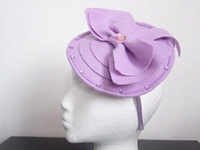 Designs by Cheryl Durrant Fascinator Lilac with Bow