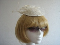 Wedding Fascinator Cream