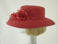 Eastex Wedding hat / Formal hat Coral Pink