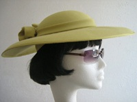 Jacques Vert Wedding / Formal Hat Olive Green