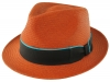 Failsworth Millinery Trilby Panama Hat in Amber