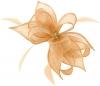 Failsworth Millinery Sinamay Diamante Clip Fascinator in Apricot