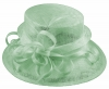Elegance Collection Sinamay Loops Wedding Hat in Aqua
