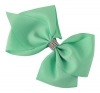 Molly and Rose Large Diamante Hair Bow in Aqua