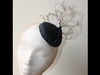 Couture by Beth Hirst Navy Straw with curled feathers 