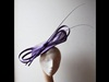 Couture by Beth Hirst Purple Fascinator with Quills