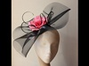 Couture by Beth Hirst Pink Rose and Black Crin Fascinator