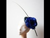 Couture by Beth Hirst Royal Blue Flower Beret