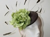 Couture by Beth Hirst Chocolate Beret with Lime Flowers