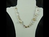 Natural Stone Necklace in Beige
