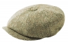 Failsworth Millinery Carloway Flat Cap in Beige