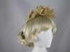 Nigel Rayment Shaped Feather Fascinator in Beige