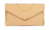 Papaya Fashion Envelope Faux Leather Bag in Beige