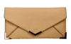 Papaya Fashion Faux Leather Envelope Bag in Beige